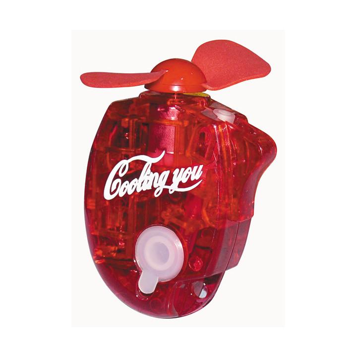 Mini ventilateur brumisateur portable jet d'eau porte-clés rouge