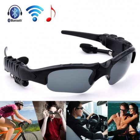 Bluetooth Sunglasses V1.2 Manos libres Headset Black para Smart Phone Tablet PC