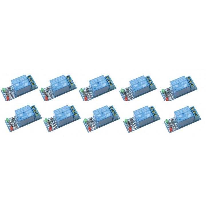 10 x 5v 12v relè di potenza del modulo 10a 220v 1 canale di automazione arduino braccio dsp aprile picco