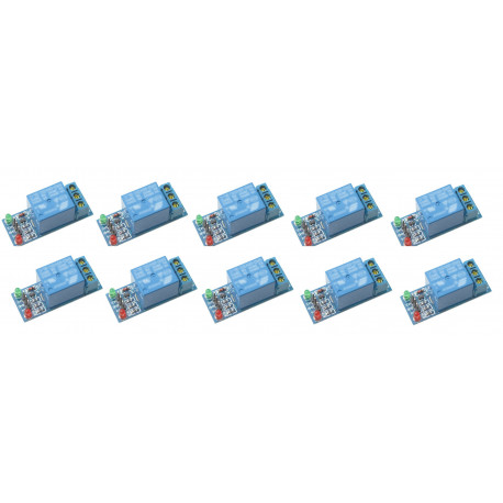 10 x 1-channel relay module for scm ,appliance control,single chip microcomputer 5v - 12v