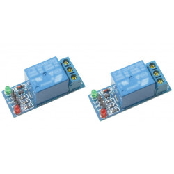 2 x 1-channel relay module for scm ,appliance control,single chip microcomputer 5v - 12v