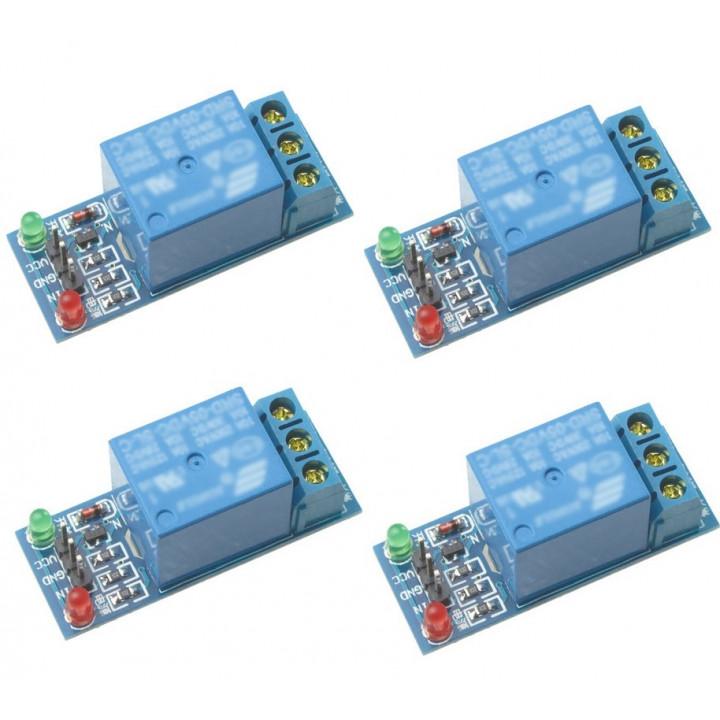 4 x relé 5v 12v de alimentación del módulo 10a 220v 1 canal automatización arduino brazo dsp abril pico