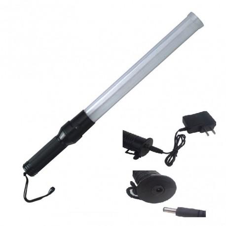 Baton lumineux blanc batterie rechargeable et chargeur route circulation voiture automobile avion