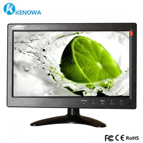 Écran Voiture 10.1 Pouces 26cm TFT LCD Moniteur BNC AVI VGA HDMI Compatible PC DVD TV camera