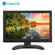 Monitor 12 pollici Schermo portatile 1366 * 768 TFT LCD a colori con HDMI / VGA / MIC per PC Camera Raspberry