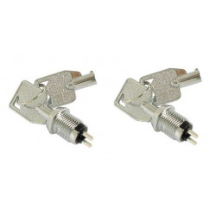 2 pcs 2 polig ein aus schloss 2 runde schlussel elektrisches schloss schlusselschalter zubehor fur alarmanlage schlossschalter