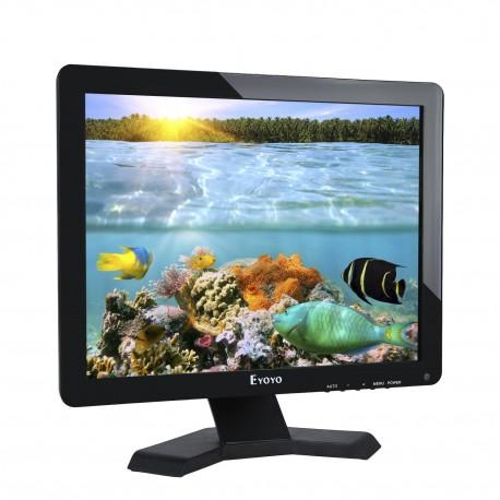 17 Pouces Moniteur LCD Panoramique1280x1024 Résolution 4: 3 FHD 1080P Écran vidéo HD HDMI BNC
