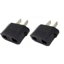 2 travel adapter plug u.s. industry canada france euro converter / japan american usa usa