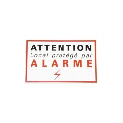 Label ''alarm protected device'' 105x65mm label ''alarm protected device'' labes ''alarm protected device'' label ''alarm protec