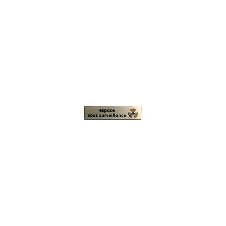 Etikett vor abschreckung ''espace sous surveillance'' 140x35mm (raum unter uberwachung) fur hauser gebaude
