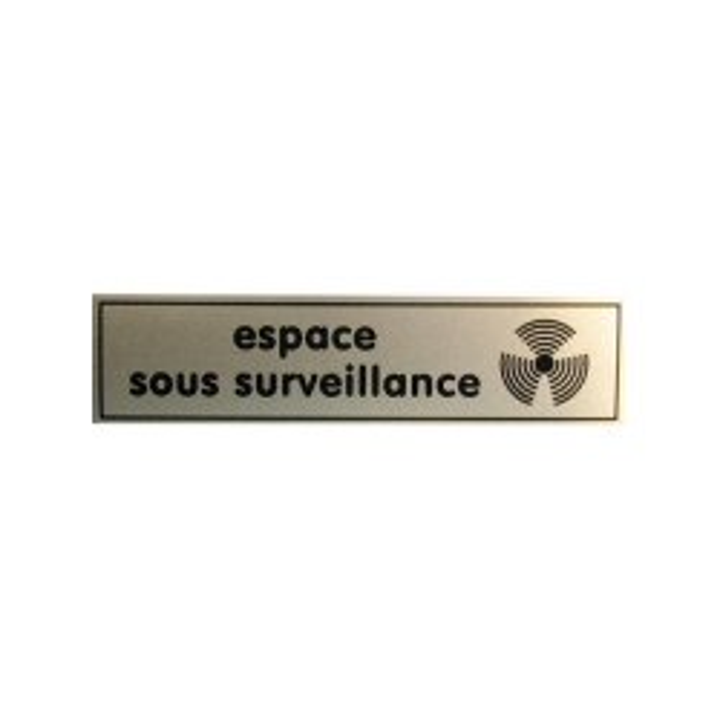 Etiquetas disuasiva ''espacio bajo vigilancia'' 140x35mm para tienda comercial etc