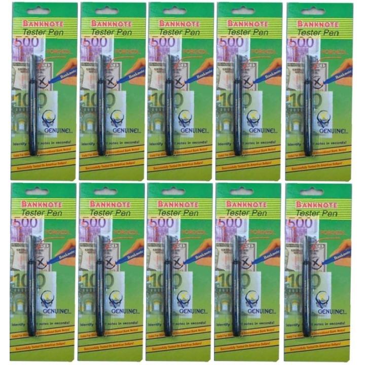 Lot de 10 marqueurs détecteur de faux billets compatible safescan