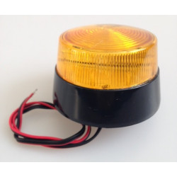 Flash 12vdc amber xenon flash, ø70x52mm strobe light strobe warning emergency lights strobe warning light systems fire police em