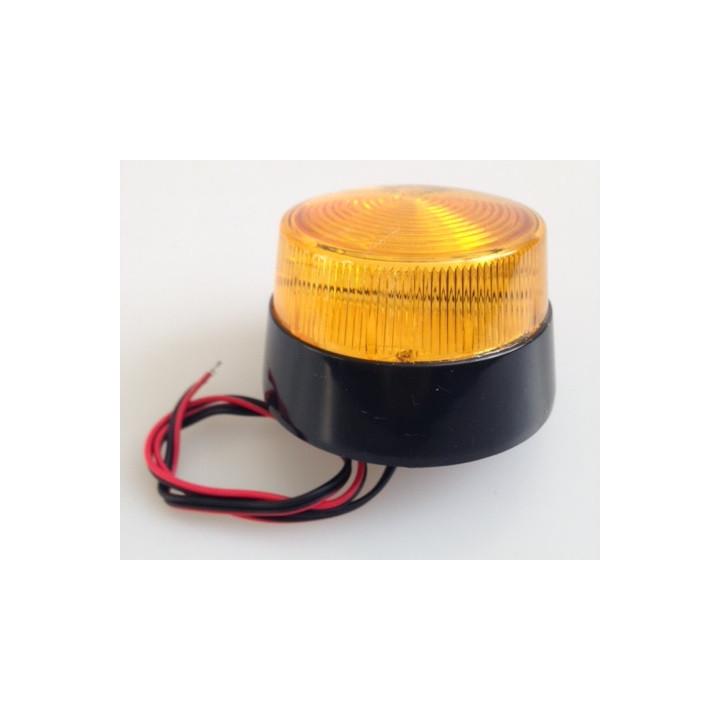 Flash alarma electronco xenon ambar 12vcc ø70x52mm ambar flashs alarmas electronicas ambars