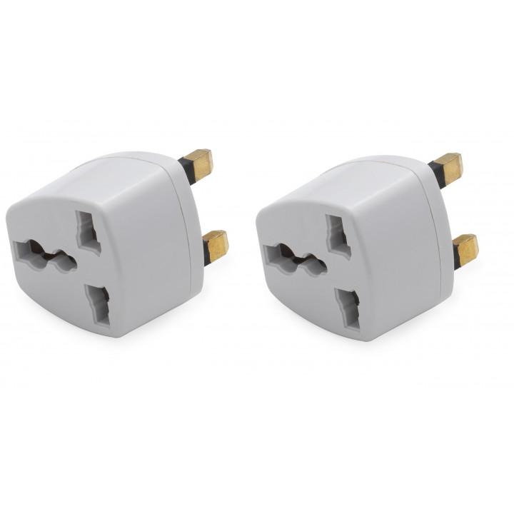 2 adaptador electrico enchufe europeo hacia enchufe ingles lle929 adaptador convertidor