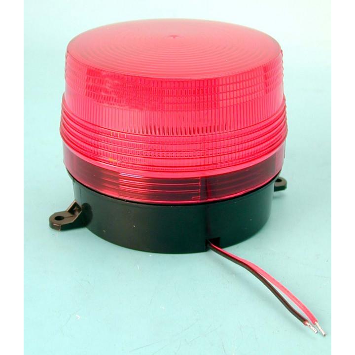 Flash 12vdc red xenon flash, ø100x80mm strobe light warning emergency lights strobe warning light systems for fire police emerge