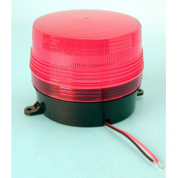 Flash alarma electronico xenon rojo 12vcc ø100x80mm flashs alarmas electronicas robo securite