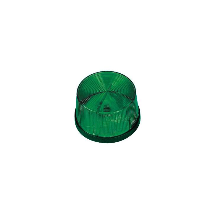 Flash allarme elettronico xenon 12vcc verde a lampi