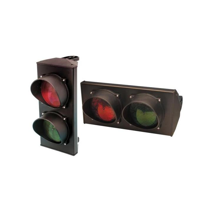 Semaforo a 2 luci verde rossa 220vca segnalatore ottico luce fissa accesso parcheggio garage