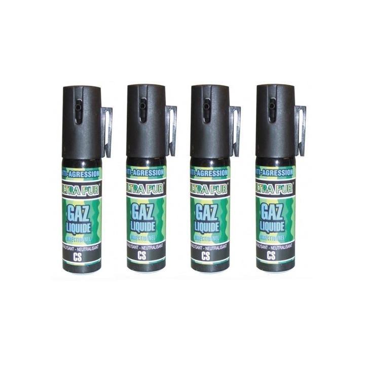 4 spray gas paralizzante bomboletta lacrimogena cs x 2% 25ml modello piccolo spray anti agressione