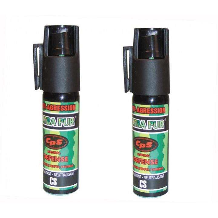 2 spray di difesa gas paralizzante al pepe 25ml modello piccolo bomba lacrimogena bomboletta spray pepe