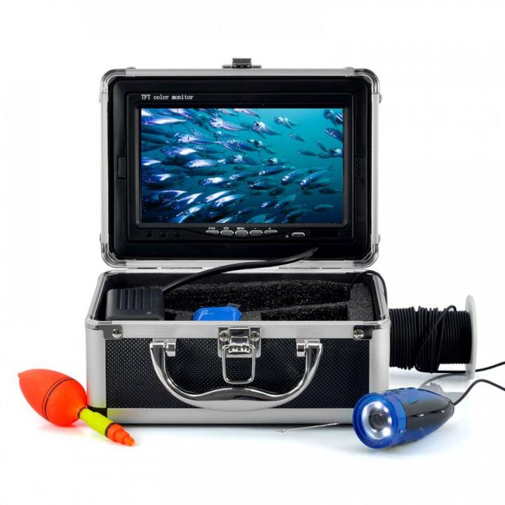 Cámara subacuática de la pesca , la cámara de vídeo hd 600tvl , monitor de 7 pulgadas con cable de 15m