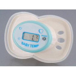 Pacifier thermometer with lcd