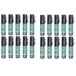20 defensive spray paralising gas cs spray self defence, 2% 25ml lachrymatory bend tear gas bear spray cs spray chemical weapons