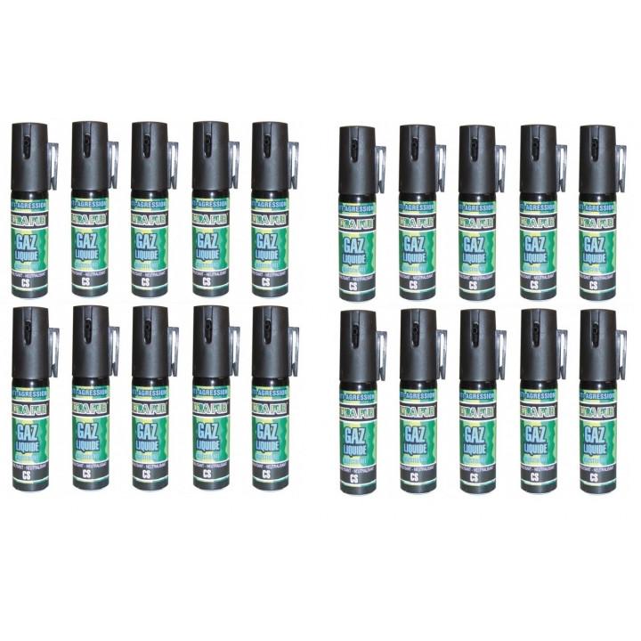 20 aerosol gas paralisante 2% 25ml pequeño modelo anti agresion autodefensa antirrobo proteccion individual seguridad