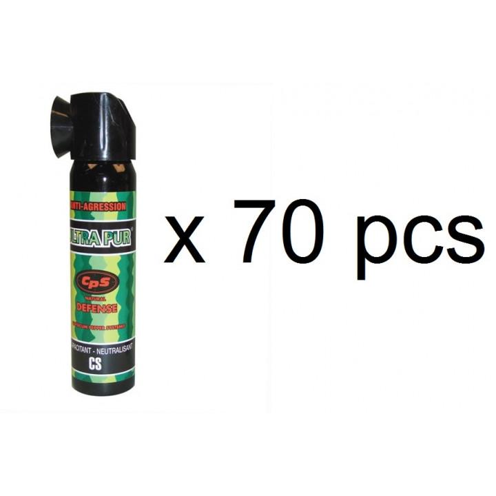70 aerosoles paralizantes spray de pimienta 75ml gas pimienta policía repele seguridad spray de pimienta perro