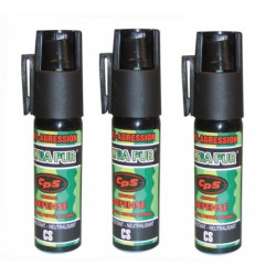 3 bombes aerosol defense 17ml 25ml pepper incapacitant GPPM