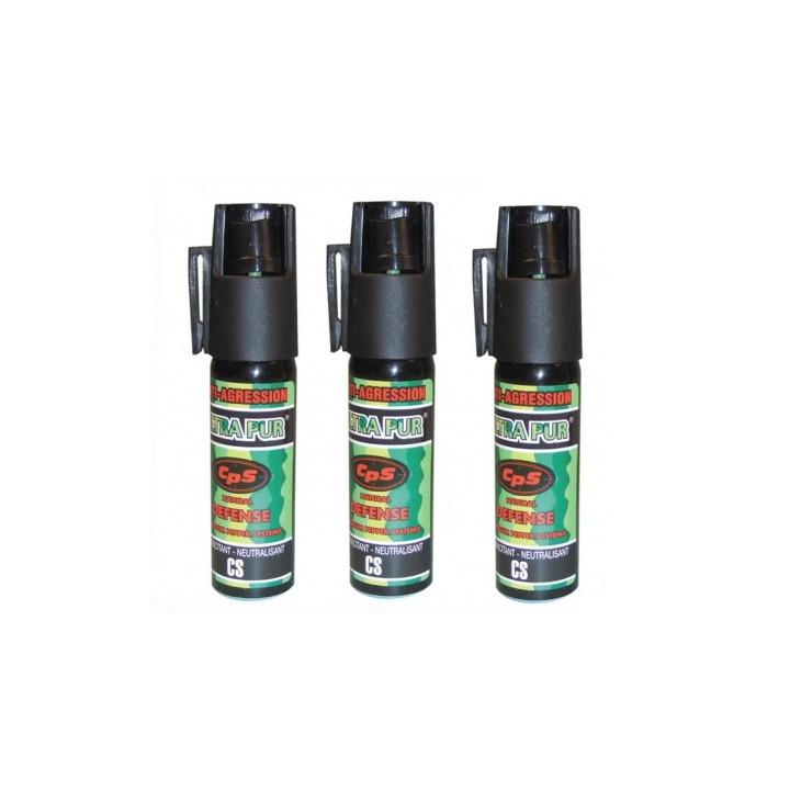 3 spray di difesa gas paralizzante al pepe 25ml modello piccolo bomba lacrimogena bomboletta spray pepe