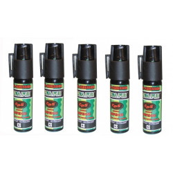5 bombes aerosol defense poivre 17ml 25ml incapacitant neutralise GPPM