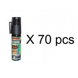 70 bombes incapacitant neutralisant aerosol defense poivre 17ml 25ml GPPM