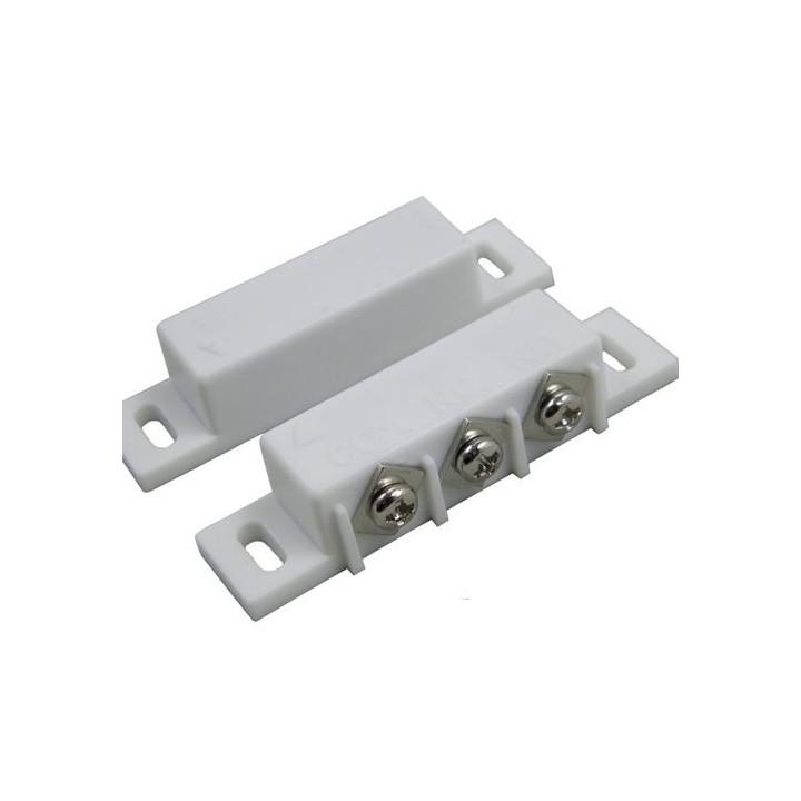 Aufbaukontakt magnetischer no nc kontakt elfenbeinfarbe alarmkontakt zubehor fur alarmanlage magnetkontakt sicherheit alarmkonta