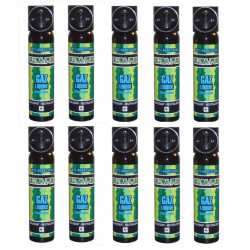 10 aerosol gas paralisante 2% 75ml gran modelo cs spray cs spray cs spray lacrimogneo gas defensa aerosoles seguridad