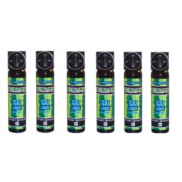 6 cs gas abwehrspray cs abwehrspray lahmung der muskulatur selbstverteidigung 2% 75ml großes modell