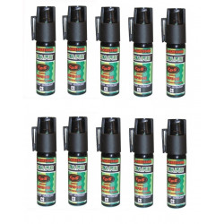 10 spray au poivre GPPM aerosol de defense 25ml repousse chien pepper bombe 16ml