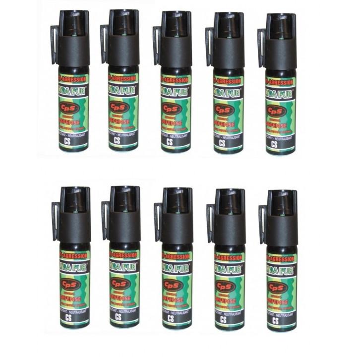 10 spray au poivre GPPM aerosol de defense 25ml repousse chien pepper bombe 16ml