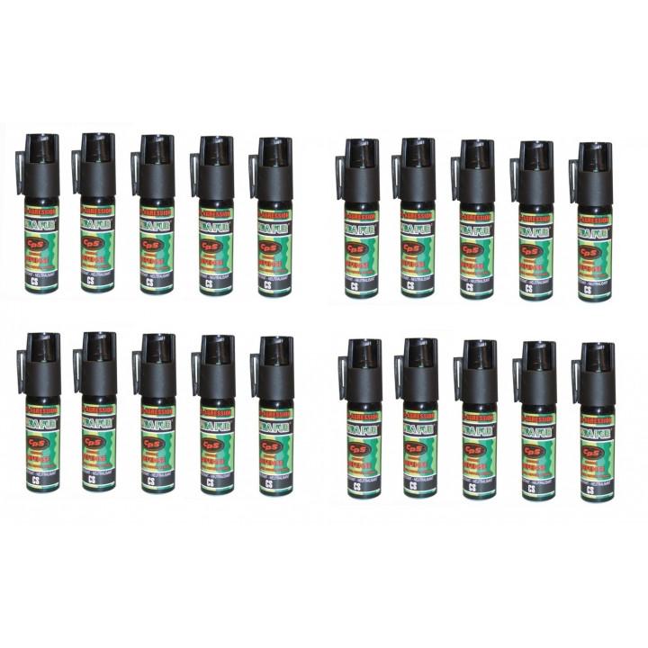 20 spray di difesa gas paralizzante al pepe 25ml modello piccolo bomba lacrimogena bomboletta spray pepe