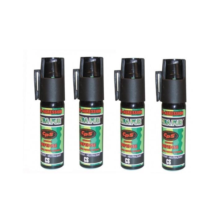 4 spray di difesa gas paralizzante al pepe 25ml modello piccolo bomba lacrimogena bomboletta spray pepe