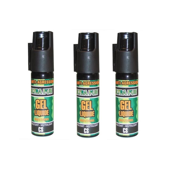 3 bombe gelpm lacrymogène spray police securite arme aerosol de defense gel paralysant