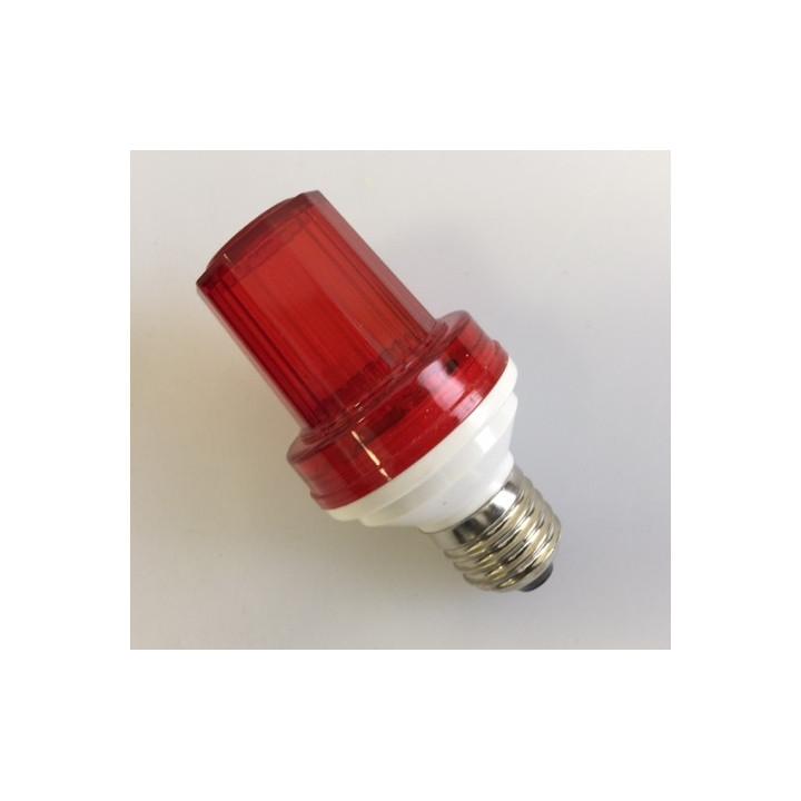 Lampe flash stroboscope rouge 1w 10 led douille e27 220v vdlslr lumiere eclairage stroboscopique
