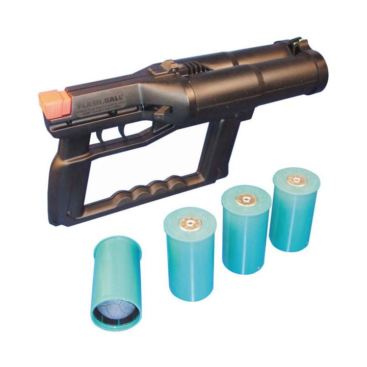 Waffe gegen angriff flash ball 44mm + 4 patronen selbstschutz waffen gegen angriff flash ball selbstschutz waffen gegen angriff