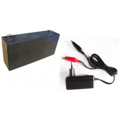 7.2vcc charger 220v 110v 0.5a 6v 1a 6w + 6v 3.4ah battery rechargeable battery motorcycle