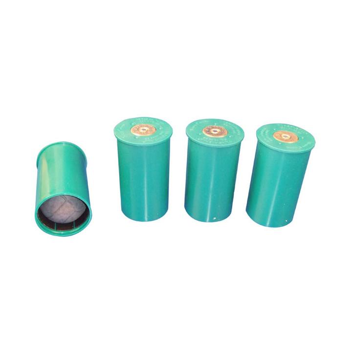 4 balles cartouche caoutchouc 44mm f201pbe munition pour pistolet flashball verney carron 7éme cat