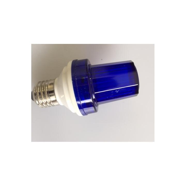 Lampe flash stroboscope bleu 1w 10 led douille e27 220v vdlslb lumiere eclairage stroboscopique