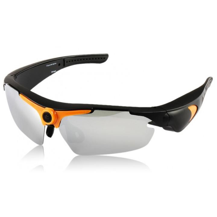 5m 720p gafas de cámara de alta resolución del hd de los pixeles 170 grados con control remoto para los deportes extremos