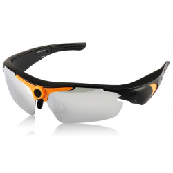 High resolution camera glasses hd 720p 5m pixels 170 degrees with remote control for extreme sports
