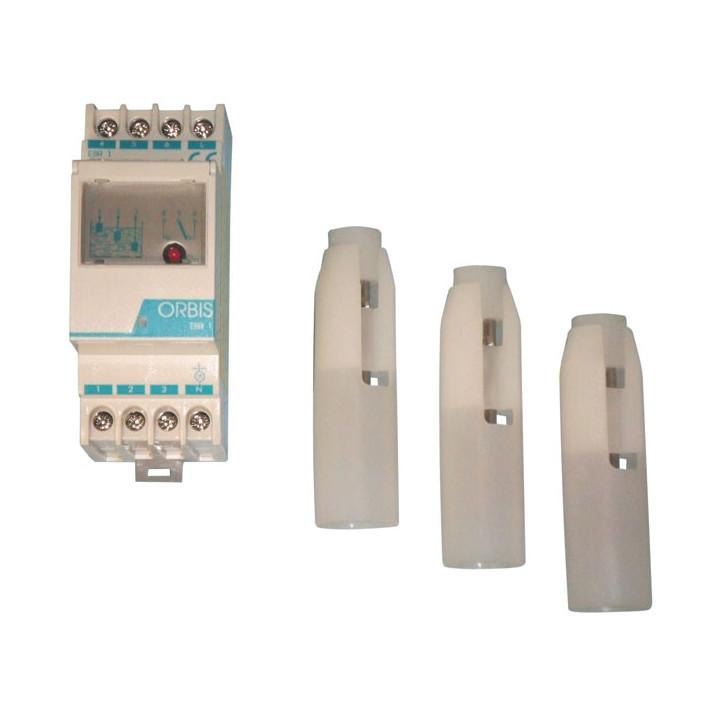 Controllo di livello elettronico ebr 1 min max 040 174 in acciaio inox protetto con 3 sonde